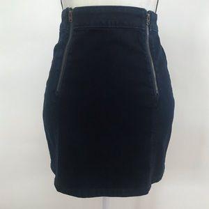 •Abercrombie & Fitch• High Waist Denim Mini Skirt